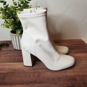 MIA White Go Go Boots or Booties Vickie P 6.5